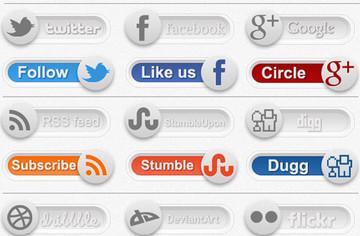 Social Toggles PSD