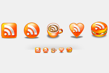 Funky RSS Photoshop (.psd) Icons