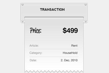 Proforma – Transaction Recipt PSD File