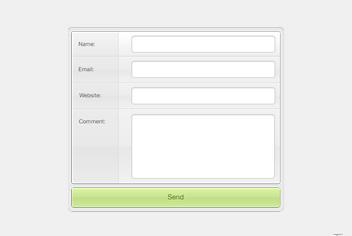 Comment Form PSD Design