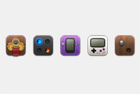 Games PSD Icon Template