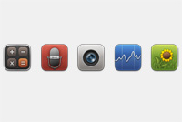 Default iPad and iPhone PSD Icons