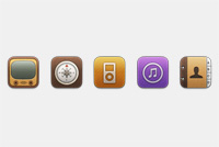 Apple Style Icons PSD