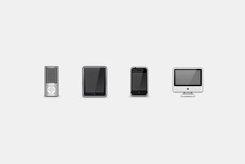 iMac, iPad, Iphone & iPod Devices PSD File