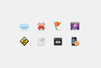 Web Icons PSD File