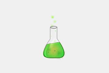 Green Tube – Chemical Flask PSD File