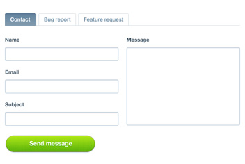 Contact Form PSD File