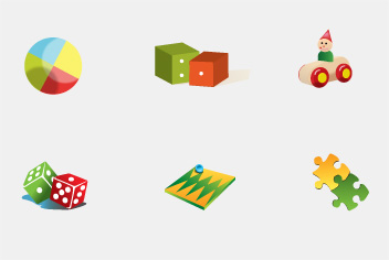 PSD Toy Icons