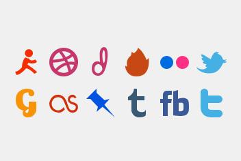 Social Media Photoshop Icons