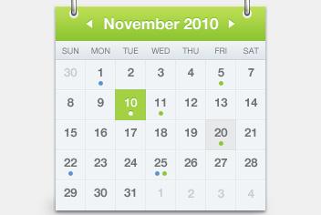 Monthly Calendar PSD File