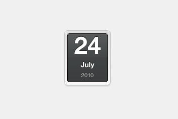 Date – Counter Photoshop Template