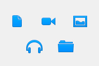 Blue Web PSD Icons