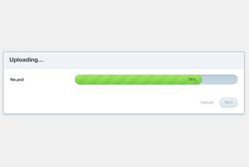 Progress Bar – Uploading Bar PSD Template