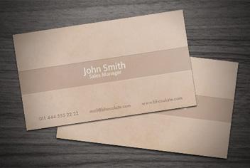 Chocolate/Coffee Business Card PSD Template