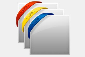 Rubber/Ribbon Photoshop (PSD) Corner