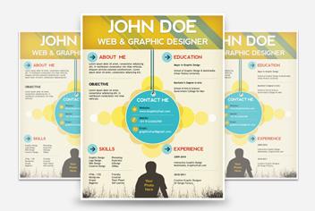 Resume/CV/ Curriculum Vitae – Photoshop (.psd) Template