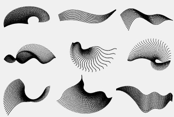 PSD Flowing Shapes
