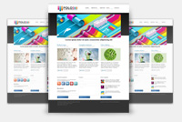 PSD Colorful Web Template – Blog Design – Photoshop Template