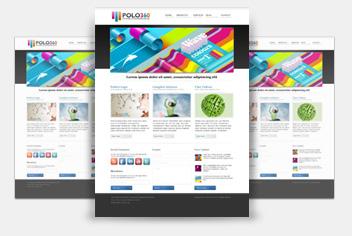 PSD Colorful Web Template – Blog Design – Photoshop Template