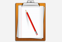 Clipboard with paper and pencil – PSD Files
