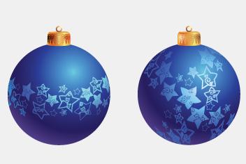 Winter Decoration Balls Photoshop File