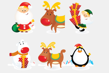 Christmas Characters PSD Fie