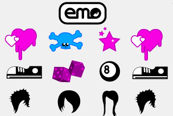 Emo Design Elements PSD File