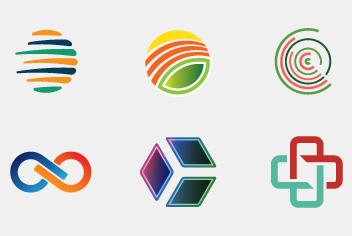 Mixed Logos Design Elements Photoshop File