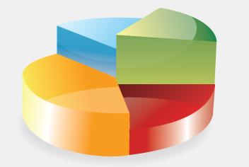 3D Vector Pie Chart PSD